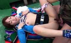 Japanese Nonoka Kaede got fucked in the boat uncensored
