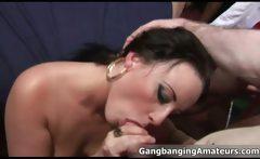 Horny amateur brunette slut going crazy