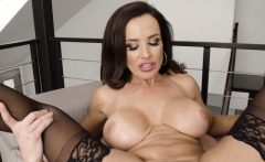 MILF pornstar Lisa Ann cum sprayed after anal banging