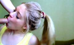 Blonde teen BBW geek POV fingering