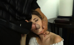 Angry stepdad brutally fucked his hot teen stepdaughter