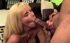 Blonde MILF playing with a monster cock