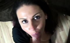 Brunette Milf Takes a Load to the Face
