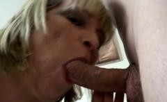 Gran sucks and rides big black dick