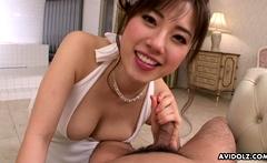 Japanese lady, Azusa Nagasawa in POV action, uncensored