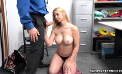 MILF Sarah submissive to the officer