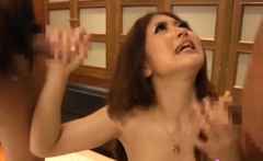 Dishy mature floozy Hibiki Ohtsuki amazed by big meat rocket