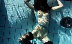 Hot Hungarian teen in the swimming pool Petra
