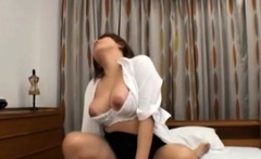Tasty mature asian floosy with round tits gets cherry filled