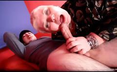 Fat blonde MILF Doctor Lucia sucks hard