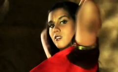 Indian Brunette Dance Gracefully And Seductively