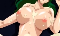 Brunette with hentai big boobs fucking