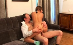 Beautiful brunette maid gets body licked