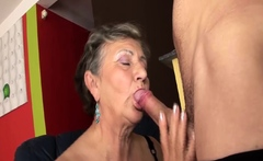 chubby hairy granny fucked by step grandson