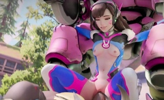 Busty DVa Gets a Huge Massive Cock in Her Pussy