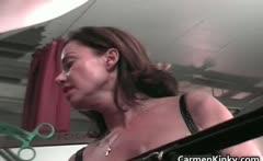 Hot sexy MILF brunette nasty chick