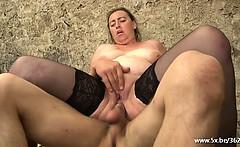 Karine deepthroated by William