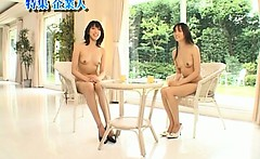 Asian girl is nude on educational